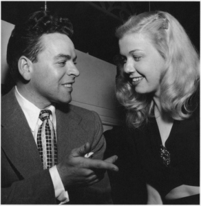 Bandleader Les Brown with his female vocalist, Doris Day