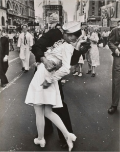 V-J Day, Times Square, 14 August 1945 by Alfred Eisenstaedt