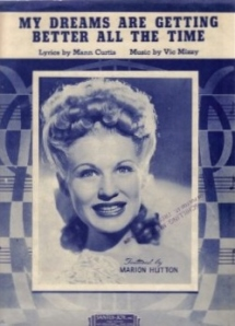 Sheet music of the song by Marion Hutton
