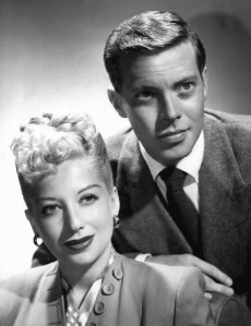 Photo of Helen Forrest and Dick Haymes at the start of Haymes' CBS Radio program