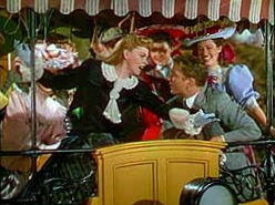 Judy Garland and Tom Drake in the Trolley Song scene from Meet Me in St. Louis