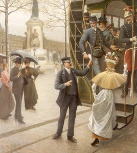 Catching the Trolley by Charles Borromée Antoine Houry