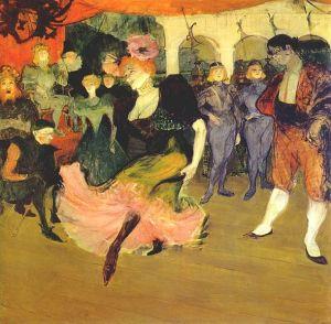 Marcelle Lender Dancing the Bolero in 'Chilperic'  by Henri de Toulouse-Lautrec