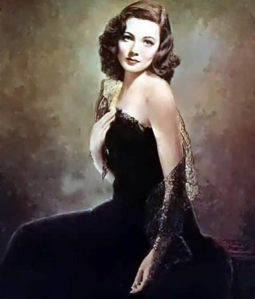 Portrait of Gene Tierney used in the film, Laura