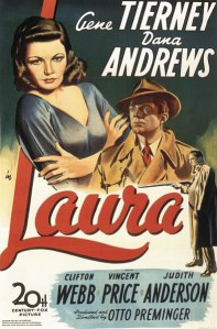 Movie poster for the film, Laura