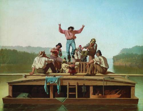 The Jolly Flatboatmen (1846) by George Caleb Bingham