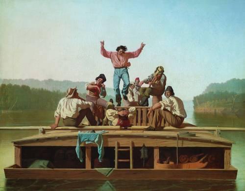 The Jolly Flatboatmen (1846) by George Caleb Bingham