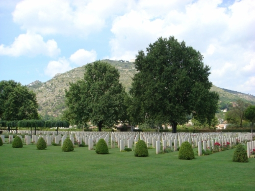 The Commonwealth War Cemetery at Cassino