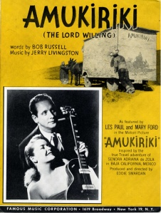 Cover illustration: Two mexican peasants pushing a horse-drawn cart and photo of Les Paul and Mary Ford