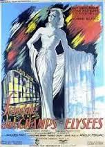 Movie poster for the film, Scandal in Champs Elysèe